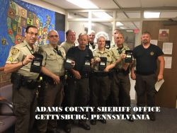 Equipment Donation: Adams County Sheriff's Office Pennsylvania