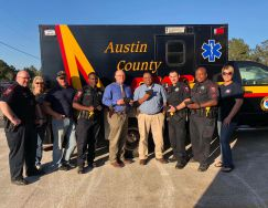 Equipment Donation: Bellville Police Department Texas