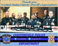 Equipment Donation: Chesterfield Police Department Indiana