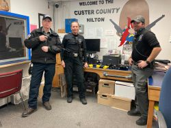 Equipment Donation: Custer County Sheriff's Office Idaho